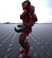 Android Mech Soldier WIPa by cytherina