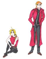 Ed and Al Elric Hanging Out by Ryo-Chi
