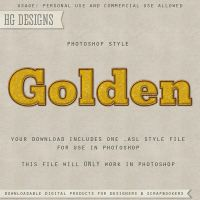 PS Style: GOLDEN by HGGraphicDesigns