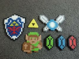 Zelda Perler Bead Set by AshersAbsolution