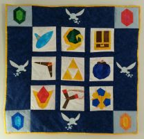 Legend of Zelda: Ocarina of Time Wall Quilt by Zaera