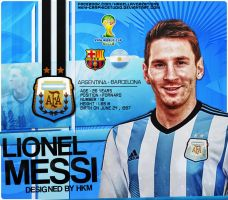Leo Messi Wc2014 Design by HkM-GraphicStudio