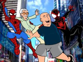 Stan lee and Brian Bendis, spider-men creators! by ultimatejulio