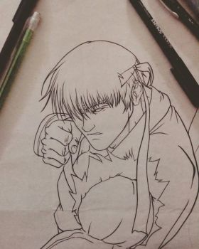Ryu Lineart practice  by Carlos-minervino