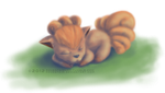 Sleeping Vulpix by adventaim