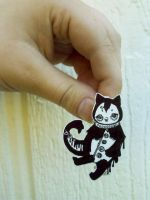 Little cat pin by COLORWULLER