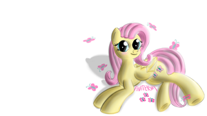 Just Fluttershy (wallpaper) by malamol