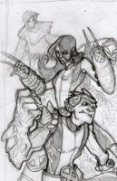 New X-Men - panel sketch by DenisM79