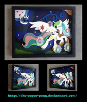 Patreon Exclusive Celestia Shadowbox by The-Paper-Pony