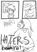 HATERS BEWARE saton by UnloveableSuika