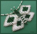 No.050b Mariposa verde by My-beaded-wonders
