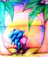 Sonamy on the Beach - Colour pencil by MissTangshan95