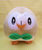 Pokemon: Lifesized Rowlet by sugarstitch