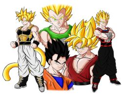Dragonball Apex colored by JayDRivera