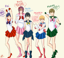 The Sailor Senshi of Free! by TheRaedar