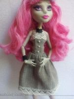 MH - Classy Grey Dress by demonrae-dolls