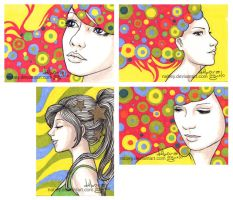 ACEO cards - V by nabey