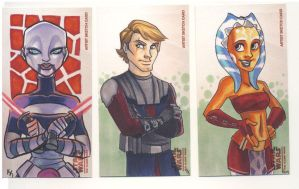 Star Wars Clone Wars Cards by kayjkay