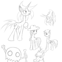 Flare sketches and doodles by Masdragonflare
