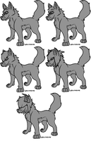 Free Canine Lineart Package: Paint Friendly by WolfAvenge