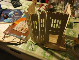 doll house under costruction by Paiolomagicoshop