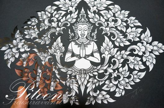 Paper Cutting : The Angel by 8thLeo