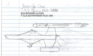 Sovereign Class Paper Drawing by kaisernathan1701
