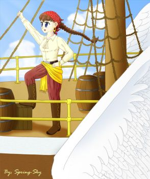 Lilo:Pirate of the flying ship by spring-sky