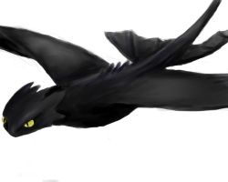 Toothless flight water colour by sailormuffin
