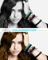 Miley Cyrus colourization by Graphic-Mania