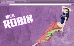 One Piece Google Chrome Theme: Nico Robin by yohohotralala