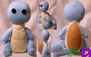 Squirtle Plush -For Sale- by FuzzyAliens