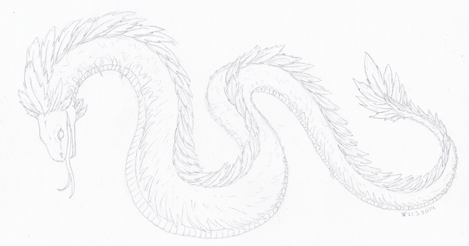 Feathery serpent by Alhippa