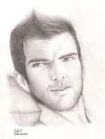 Zachary Quinto - Sylar by RedHoodWinked