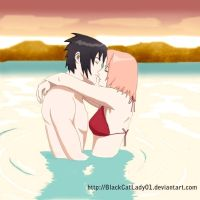 SASUSAKU IN THE BEACH by BlackCatLady01