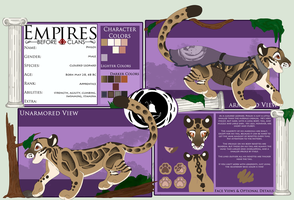 EBC: Philos the Clouded Leopard by PancakeShiners