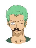 Moustache Zoro. by JellyPirate