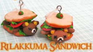 Rilakkuma Sandwich Charm (Video tutorial) by NerdEcrafter