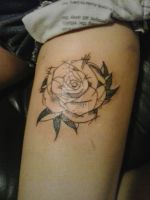 Rose tattoo by fifciaa