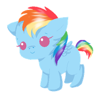 Baby Rainbow Dash by Blood-Charm