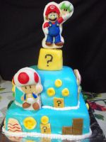 Super Mario Cake by zamor438