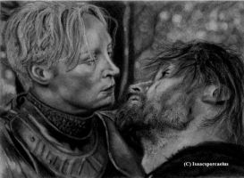 Brienne and Jaime by Isaacsporcaelus