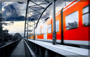 train_on_the_bridge by Equipage