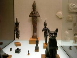 egyptian funerary statues by coolingj7j77