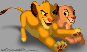 Simba and Nala by EyesInTheDark666