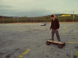 Electric Skateboard is Riding by SottoPK