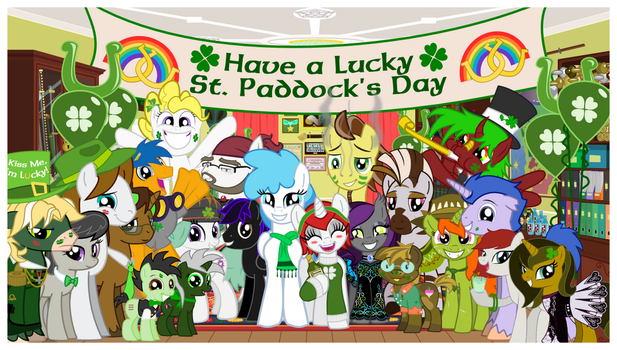 St Paddy's Day - The Big Group Photo by AskBritanniaMLP