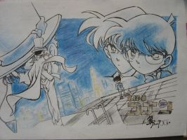 conan vs kaito by hicjacet by MeitanteiConanclub
