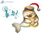 Daily Paint #1077. Harp Seal by Cryptid-Creations