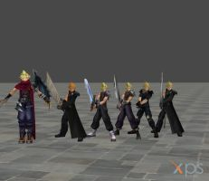 Dissidia Cloud Pack by DatKofGuy